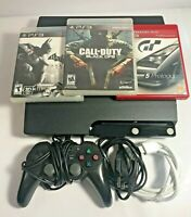 Sony PlayStation 3 PS3 Slim Console CECH-2001A 120GB, Controller and 3 Games