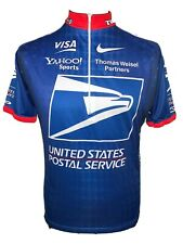 Nike Cycle Blue Cycling Jersey Shirt Short Sleeve United States Postal Service L