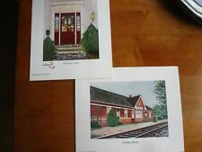 Carmel Foret Christmas Art Prints - Lot of 2