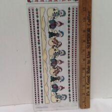 "Winter Primative Country Snowmen 12"" Borders SCRAPBOOKING Stickers by Bo-Bunny"