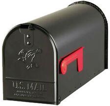 Gibraltar E1100B00 Elite Post Mount Rural Mailbox, Standard Size T1, Black