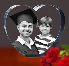 3D Photo Crystal Heart-Graduation-Father's Day-Wedding Gift-Free Light-3 sizes