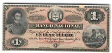 ARGENTINA PROOF BANCO NACIONAL $1 1873 XF  P.s 649p  BAUMAN  BN-54p