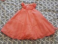 Stunning Summer Girls Spanish Bonnie Jean coral Dress 3T Age 3 * WORN ONCE *