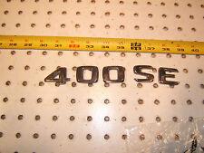 Mercedes W140 400SE sedan rear deck lid 400SE PLASTIC OEM 1 Emblem, 400SE,#4