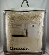 Hotel Collection Mosaic Grid Embroidered Full / Queen Comforter Light Beige