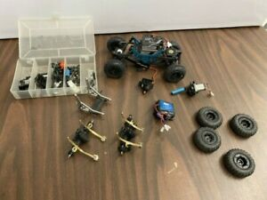 Losi 1/24 Micro Crawler & Ecx 1/24 Temper parts lot almost 2 trucks