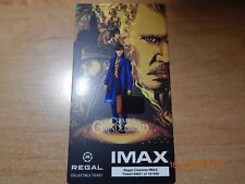 THE CRIMES OF GRINDELWALD FANTASTIC BEASTS IMAX MOVIE REGAL COLLECTIBLE TICKET