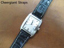 Cerruti 1881 black crorodile strap band sample Cheergiant handmade straps鱷魚皮手工錶帶