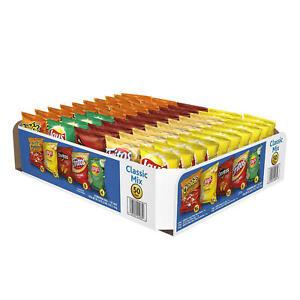 Frito-Lay Classic Mix Chips & Snacks Variety Lay's Cheetos (50 Pack)