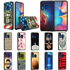 For Samsung Galaxy A20 / A30 / A50 Hybrid Dual Layer Fitted Protective Slim Case