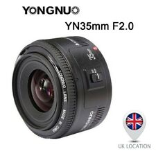 Yongnuo YN35mm EF 35mm Fixed Lens F/2.0 AF MF Wide Angle for Canon EOS UK
