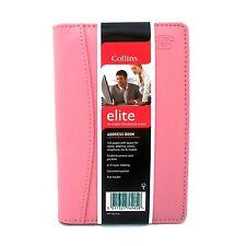 Collins Elite Padded Address Book PINK CL165 Slim Business Credit Card pockets