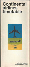 Continental Airlines system timetable 3/1/66 [8081]