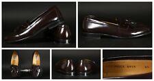 MEZLAN Santander Men's Burgundy Leather Kiltie Tassel Loafers Size 8 1/2 M Spain