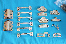VINTAGE LOT DOOR HINGES, DRAWER HANDLES, WINDOW LOCKS, ETC