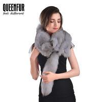 Queenfur New Real Whole Skin Fox Fur Shawl Winter Luxury Fox Wrap New Fur Scarf