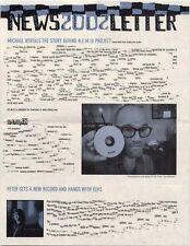 R.E.M. Fanclub Newsletter 2002 Michael Reveals the Story...
