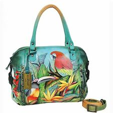 Anuschka Tropical Bliss Zip Top Satchel, Genuine Leather 526-TBL