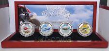 2006 Cook Islands 1930 Racers 4-coin silver set 4x1Oz plane aircraft aviation BU