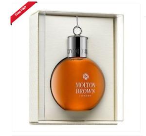 Molton Brown Black Peppercorn Festive Shower Gel Bauble 2 x  75ml BNew