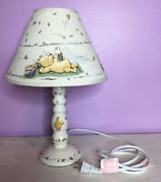 Disney Winnie The Pooh Piglet Honey Pot  Lamp With Lampshade Excellent Cond