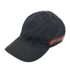 Authentic GUCCI Vintage Shelly Line GG Pattern Hat Cap Black #XL Italy AK20374b