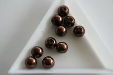 Brown Glass Pearl beads. 8mm. 40 beads. #3724