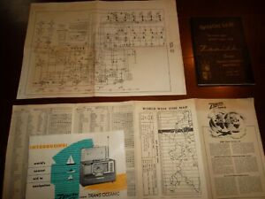 ZENITH RADIO Chicago  -  2 Illustrated Brochures SHORT WAVE HART Chassis Diagram