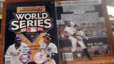 MLB World Series Official Program Phillies Yankees 2009 & 2008 Bombers Broadside