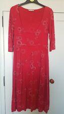 White Stuff Red Circle Printed Dress Size 12 - Used