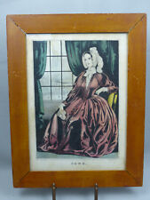 Original Antique N Currier Lithograph Print Jane 1845 in Period Frame