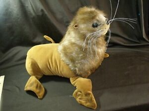 "Fiesta 13"" sealion realistic sea lion plush stuffed animal airbrushing gorgeous!"