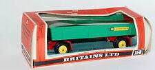 BRITAINS 9558 8 à Roues Bande-annonce en vert avec un Base rouge 1:3 2 échelle