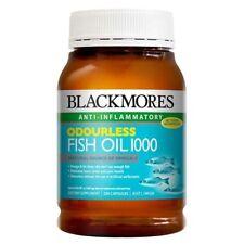 BLACKMORES ODOURLESS FISH OIL 1000 MG 200 CAPSULES OMEGA 3 ANTI INFLAMMATORY