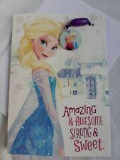 Hallmark Interactive Birthday Card Frozen Elsa Charm Rubber Bracelet Gifts