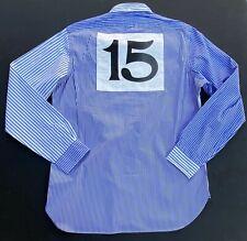 Ralph Lauren Blue Mens Size 2xl Stripe Button Down Colorblock Shirt #113