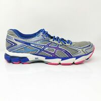 Asics Womens GT 1000 2 T3R5N Sliver Blue Running Shoes Lace Up Low Top Size 11