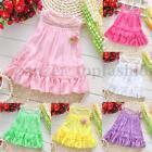 Toddler Baby Sleeveless Princess Sundress Kid Girl Chiffon Vest Tutu Dress Top