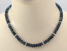 "Topas-Kette - Blautopas Halskette ""London Blue"" facettiert für Damen 47 cm"