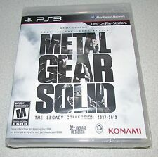 NEW Metal Gear Solid The LEGACY Collection Game PS3 - 10 Games - FREE Fast Ship!