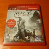 Assassin's Creed III PlayStation 3 PS3 Ubisoft