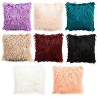 Soft Fur Plush Square Throw Pillow Cases Home Decor Sofa Cushion Cover Fluffy