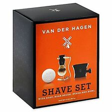 Van Der Hagen Men's Luxury, Premium 4 Piece Luxury Boar Shave Set