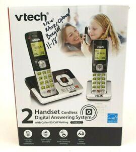 New VTECH 2 Handset Cordless Digital Phone Answering System w/Caller ID CS6829-2