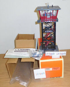 LIONEL 6-12878 OPERATING RAILROAD CONTROL TOWER O GAUGE TRAIN LAYOUT ACCESSORY