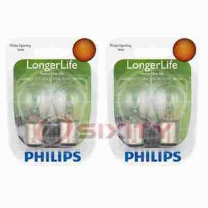 2 pc Philips Tail Light Bulbs for Cadillac Series Series 60 Fleetwood Series uf