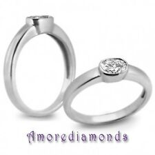 0.55 ct natural I SI1 oval diamond solitaire engagement ring in solid 14k gold