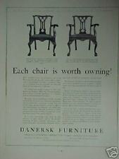 1931 Danersk Furniture Vintage Chairs Photo Print Ad