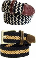 Rocawear Men's Elastic Stretch Webbed Braided Belt New Hip Hop Era Time Money Is